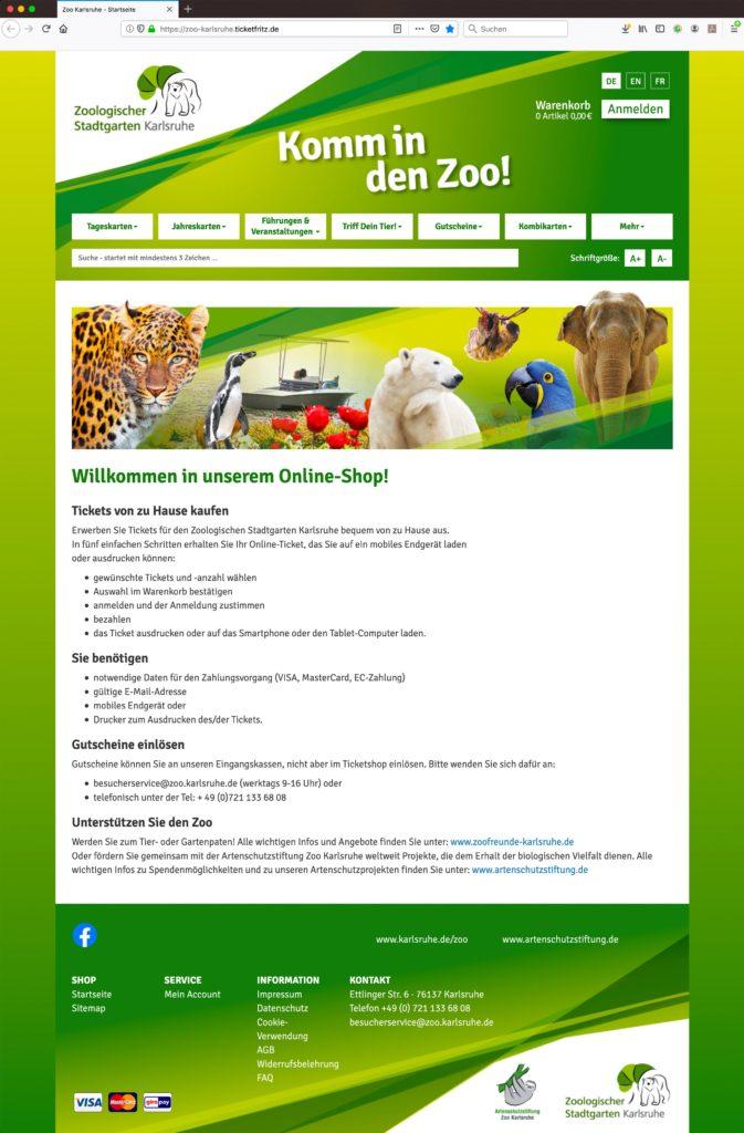Zoo Karlsruhe Online Tickets